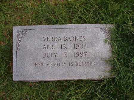 BARNES, VERDA - Dallas County, Arkansas | VERDA BARNES - Arkansas Gravestone Photos