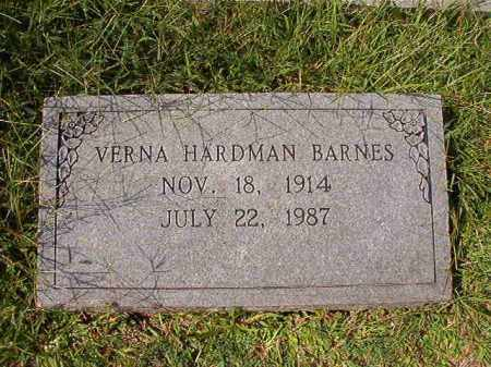 HARDMAN BARNES, VERNA - Dallas County, Arkansas | VERNA HARDMAN BARNES - Arkansas Gravestone Photos