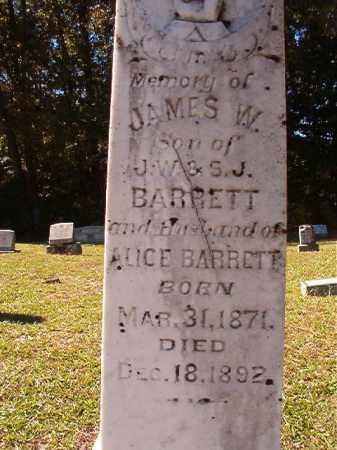 BARRETT, JAMES W - Dallas County, Arkansas | JAMES W BARRETT - Arkansas Gravestone Photos