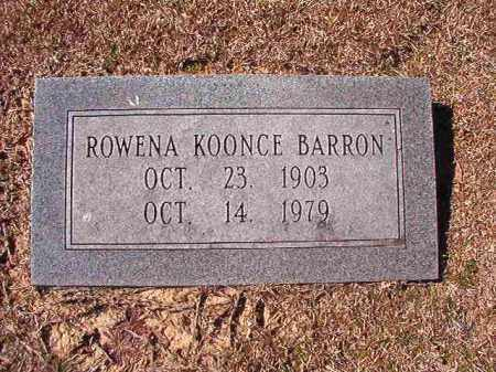 KOONCE BARRON, ROWENA - Dallas County, Arkansas | ROWENA KOONCE BARRON - Arkansas Gravestone Photos