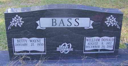 BASS, WILLIAM DONALD - Dallas County, Arkansas | WILLIAM DONALD BASS - Arkansas Gravestone Photos