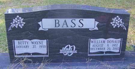 BASS, WILLIAM DONALD - Dallas County, Arkansas | WILLIAM DONALD BASS - Arkansas Gravestone Photos