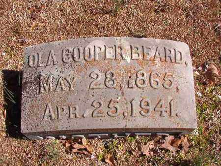 COOPER BEARD, OLA - Dallas County, Arkansas | OLA COOPER BEARD - Arkansas Gravestone Photos
