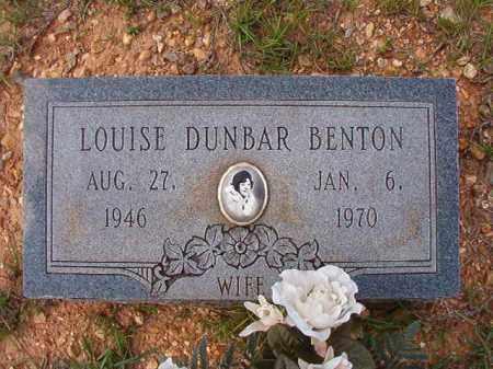DUNBAR BENTON, LOUISE - Dallas County, Arkansas | LOUISE DUNBAR BENTON - Arkansas Gravestone Photos