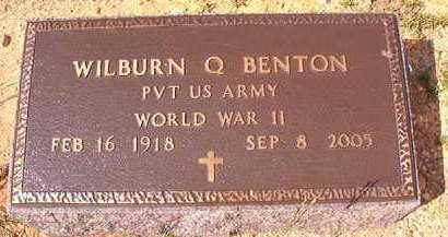 BENTON (VETERAN WWII), WILBURN QUIEN - Dallas County, Arkansas | WILBURN QUIEN BENTON (VETERAN WWII) - Arkansas Gravestone Photos