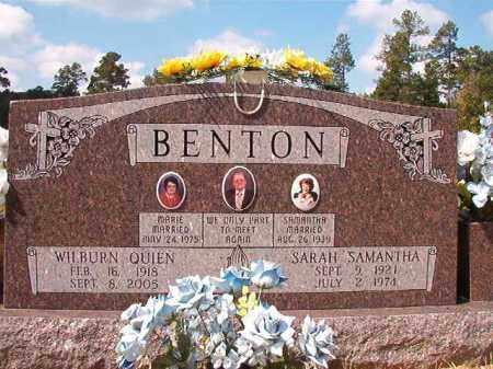 BENTON, WILBURN QUIEN - Dallas County, Arkansas | WILBURN QUIEN BENTON - Arkansas Gravestone Photos