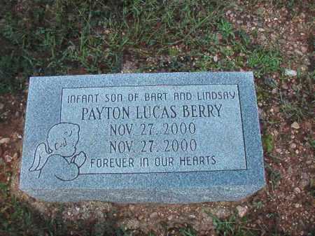 BERRY, PAYTON LUCAS - Dallas County, Arkansas   PAYTON LUCAS BERRY - Arkansas Gravestone Photos