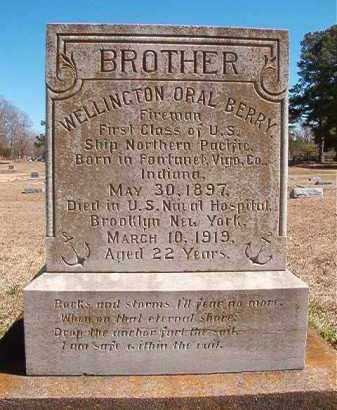 BERRY (VETERAN), WELLINGTON ORAL - Dallas County, Arkansas | WELLINGTON ORAL BERRY (VETERAN) - Arkansas Gravestone Photos