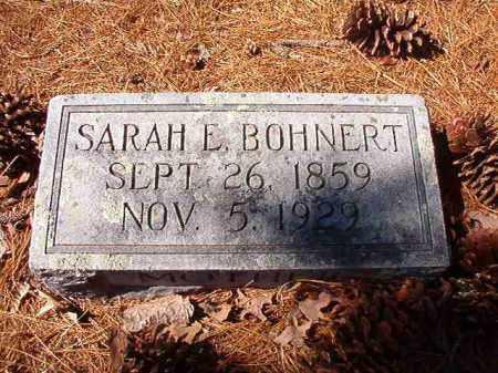 BOHNERT, SARAH E - Dallas County, Arkansas | SARAH E BOHNERT - Arkansas Gravestone Photos