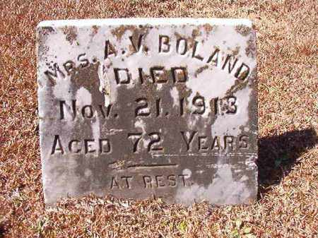 BOLAND, MRS, A V - Dallas County, Arkansas | A V BOLAND, MRS - Arkansas Gravestone Photos