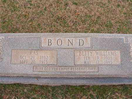 WILLIAMS BOND, BETTY - Dallas County, Arkansas | BETTY WILLIAMS BOND - Arkansas Gravestone Photos