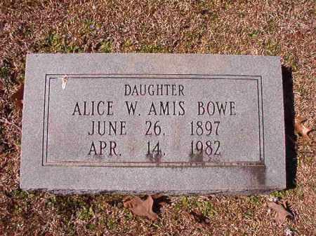 BOWE, ALICE W - Dallas County, Arkansas | ALICE W BOWE - Arkansas Gravestone Photos