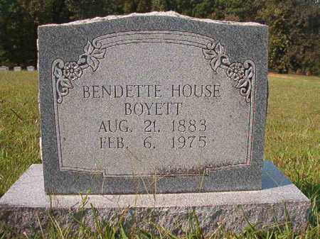 HOUSE BOYETT, BENDETTE - Dallas County, Arkansas | BENDETTE HOUSE BOYETT - Arkansas Gravestone Photos