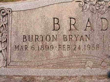 BRADLEY, BURTON BRYAN - Dallas County, Arkansas | BURTON BRYAN BRADLEY - Arkansas Gravestone Photos