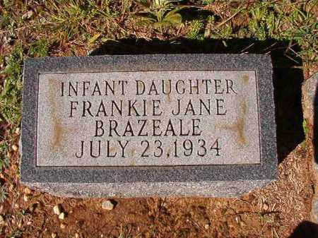 BRAZEALE, FRANKIE JANE - Dallas County, Arkansas | FRANKIE JANE BRAZEALE - Arkansas Gravestone Photos