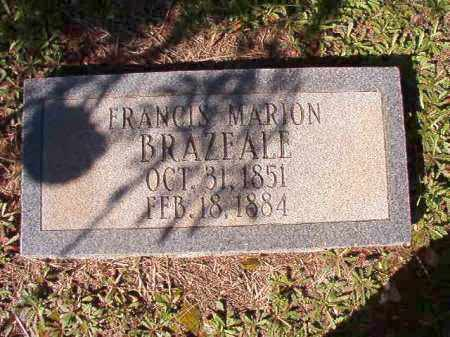 BRAZEALE, FRANCIS MARION - Dallas County, Arkansas | FRANCIS MARION BRAZEALE - Arkansas Gravestone Photos