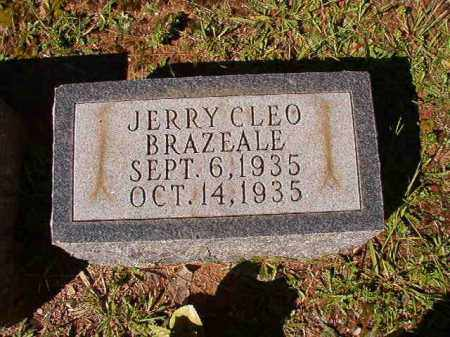 BRAZEALE, JERRY CLEO - Dallas County, Arkansas | JERRY CLEO BRAZEALE - Arkansas Gravestone Photos
