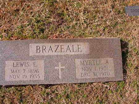BRAZEALE, LEWIS E - Dallas County, Arkansas | LEWIS E BRAZEALE - Arkansas Gravestone Photos