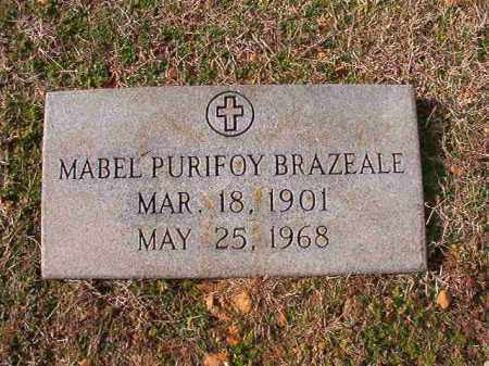 PURIFOY BRAZEALE, MABEL - Dallas County, Arkansas | MABEL PURIFOY BRAZEALE - Arkansas Gravestone Photos