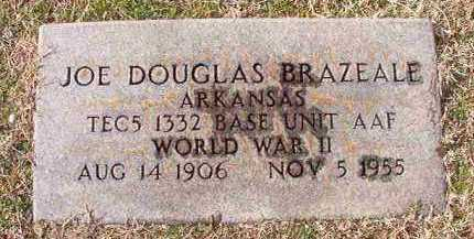 BRAZEALE (VETERAN WWII), JOE DOUGLAS - Dallas County, Arkansas | JOE DOUGLAS BRAZEALE (VETERAN WWII) - Arkansas Gravestone Photos