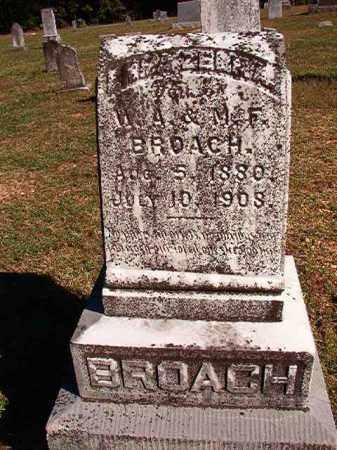 BROACH, EMMA ZELMA - Dallas County, Arkansas   EMMA ZELMA BROACH - Arkansas Gravestone Photos