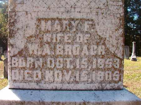 BROACH, MARY F - Dallas County, Arkansas   MARY F BROACH - Arkansas Gravestone Photos