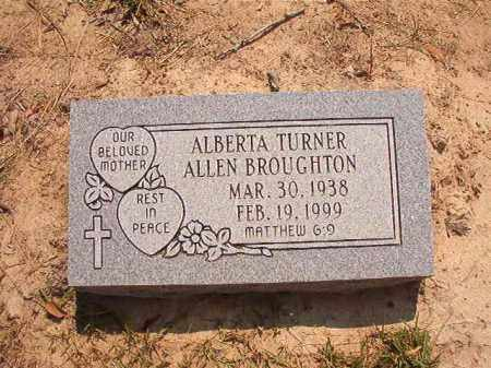 BROUGHTON, ALBERTA - Dallas County, Arkansas | ALBERTA BROUGHTON - Arkansas Gravestone Photos
