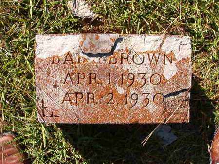 BROWN, BABY - Dallas County, Arkansas | BABY BROWN - Arkansas Gravestone Photos