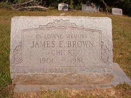 BROWN, JAMES E (CHICK) - Dallas County, Arkansas | JAMES E (CHICK) BROWN - Arkansas Gravestone Photos