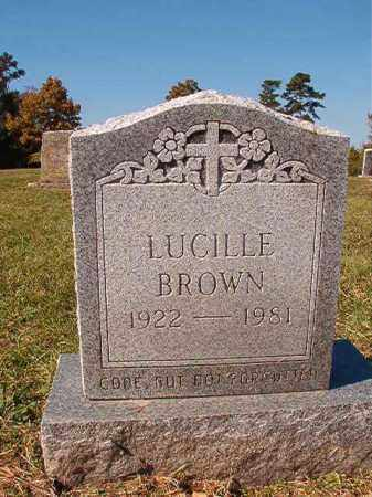 BROWN, LUCILLE - Dallas County, Arkansas | LUCILLE BROWN - Arkansas Gravestone Photos
