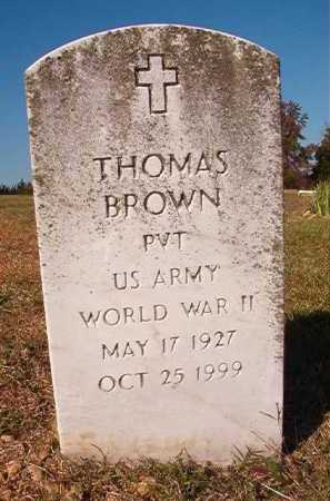 BROWN (VETERAN WWII), THOMAS - Dallas County, Arkansas | THOMAS BROWN (VETERAN WWII) - Arkansas Gravestone Photos