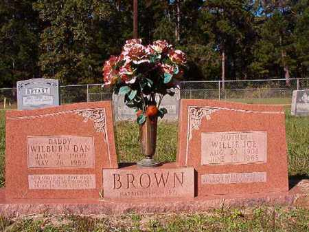 BROWN, WILBURN DAN - Dallas County, Arkansas | WILBURN DAN BROWN - Arkansas Gravestone Photos