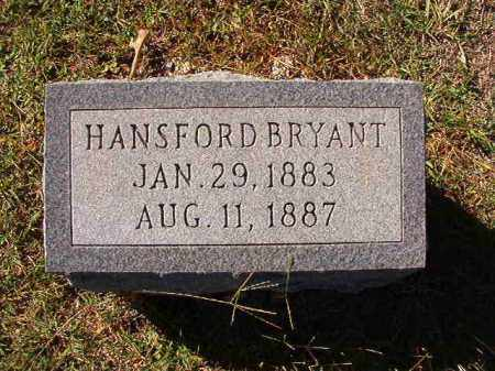 BRYANT, HANSFORD - Dallas County, Arkansas | HANSFORD BRYANT - Arkansas Gravestone Photos