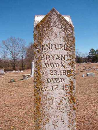BRYANT, SANFORD E - Dallas County, Arkansas | SANFORD E BRYANT - Arkansas Gravestone Photos