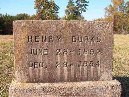 BURKS, HENRY - Dallas County, Arkansas | HENRY BURKS - Arkansas Gravestone Photos