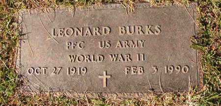 BURKS (VETERAN WWII), LEONARD - Dallas County, Arkansas | LEONARD BURKS (VETERAN WWII) - Arkansas Gravestone Photos