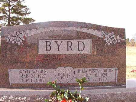 BYRD, GAYLE WALDEN - Dallas County, Arkansas | GAYLE WALDEN BYRD - Arkansas Gravestone Photos