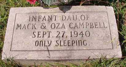 CAMPBELL, INFANT DAUGHTER - Dallas County, Arkansas | INFANT DAUGHTER CAMPBELL - Arkansas Gravestone Photos