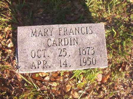 CARDIN, MARY FRANCIS - Dallas County, Arkansas | MARY FRANCIS CARDIN - Arkansas Gravestone Photos