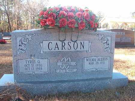 CARSON, TYROL Q (KIT) - Dallas County, Arkansas | TYROL Q (KIT) CARSON - Arkansas Gravestone Photos