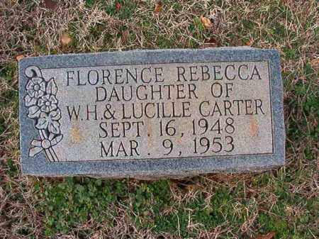 CARTER, FLORENCE REBECCA - Dallas County, Arkansas | FLORENCE REBECCA CARTER - Arkansas Gravestone Photos