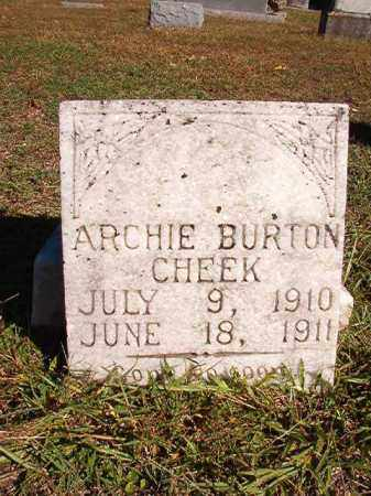 CHEEK, ARCHIE BURTON - Dallas County, Arkansas | ARCHIE BURTON CHEEK - Arkansas Gravestone Photos