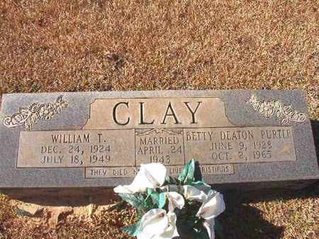 CLAY, WILLIAM T - Dallas County, Arkansas | WILLIAM T CLAY - Arkansas Gravestone Photos