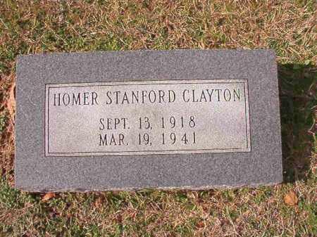 CLAYTON, HOMER STANFORD - Dallas County, Arkansas | HOMER STANFORD CLAYTON - Arkansas Gravestone Photos