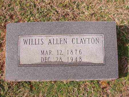 CLAYTON, WILLIS ALLEN - Dallas County, Arkansas | WILLIS ALLEN CLAYTON - Arkansas Gravestone Photos