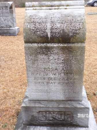 CLYDE, ROSA A - Dallas County, Arkansas | ROSA A CLYDE - Arkansas Gravestone Photos