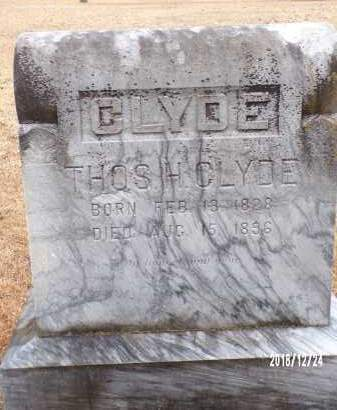 CLYDE, THOS H - Dallas County, Arkansas | THOS H CLYDE - Arkansas Gravestone Photos