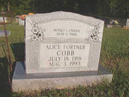FORTNER COBB, ALICE - Dallas County, Arkansas | ALICE FORTNER COBB - Arkansas Gravestone Photos