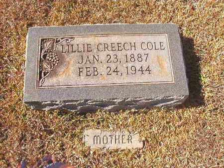 CREECH COLE, LILLIE - Dallas County, Arkansas | LILLIE CREECH COLE - Arkansas Gravestone Photos