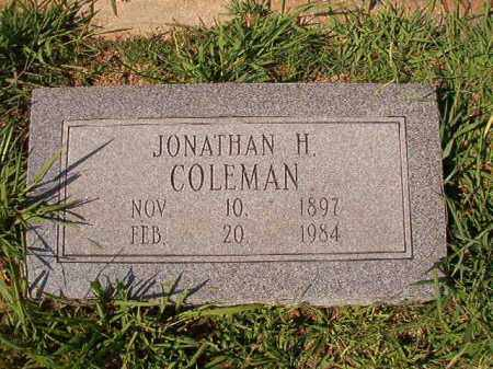 COLEMAN, JONATHAN H - Dallas County, Arkansas | JONATHAN H COLEMAN - Arkansas Gravestone Photos